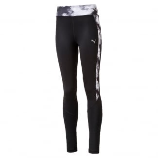 Girls Active All Over Print Panel Tights