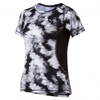 Girls Active All Over Print Tee