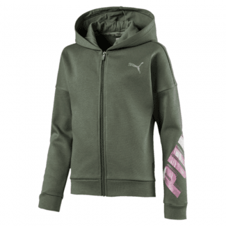 Girls Full Zip Fleece Hoodie