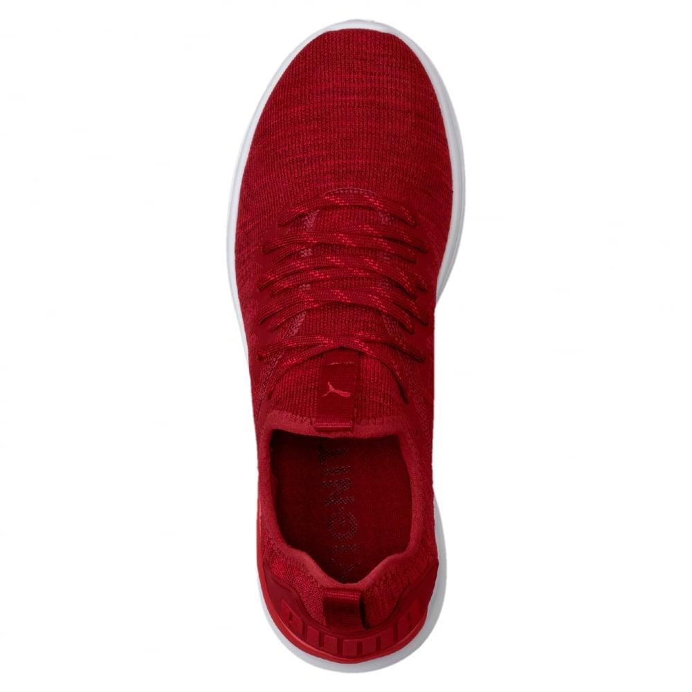 huge discount c6322 9aca1 Puma IGNITE Flash evoKNIT Men's Running Shoes in Red ...