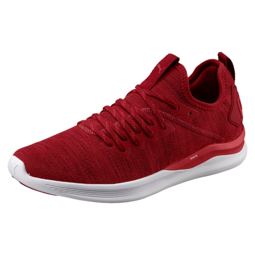 huge discount a5b34 f79b6 Puma IGNITE Flash evoKNIT Men's Running Shoes in Red ...