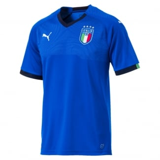 Italy Home Mens Short Sleeve Jersey 2018