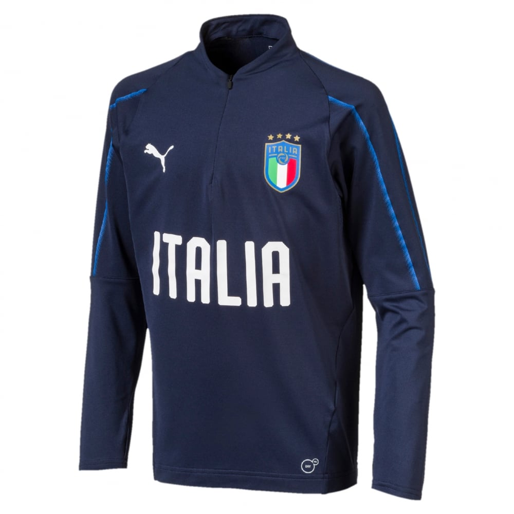 26d164a4418a Puma Italy Junior 1 4 Zip Training Top - Puma from Excell Sports UK