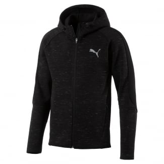 Mens Evostripe Spaceknit Full Zip Hoody