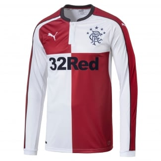 Rangers Away Mens Long Sleeve Jersey 2016/2017