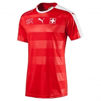 Switzerland Home Mens Short Sleeve Jersey