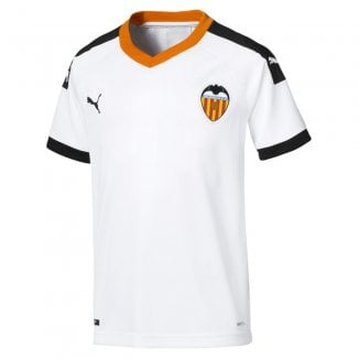 Valencia Home Junior Short Sleeve Jersey 2019/2020