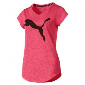 Womens Heather Cat V-neck Training T-Shirt