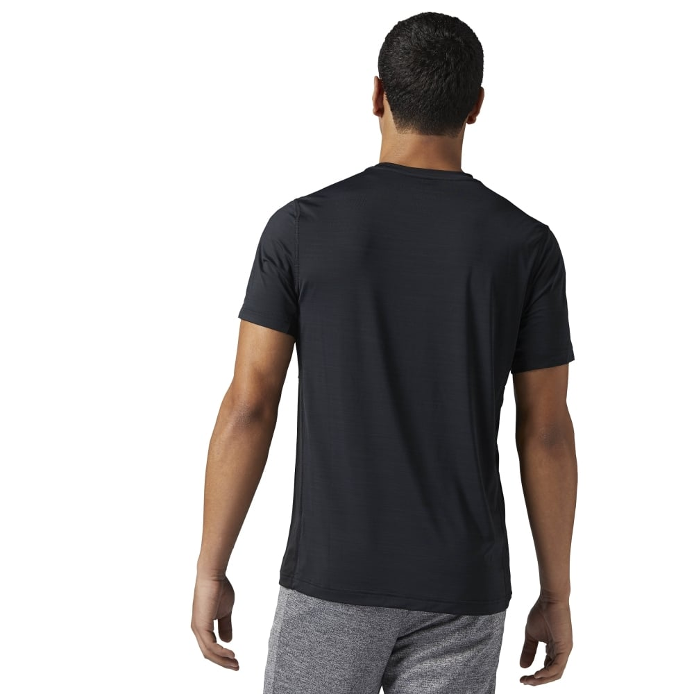 0576c944 Reebok Mens Activchill Zoned Graphic Tee in Black | Excell Sports UK