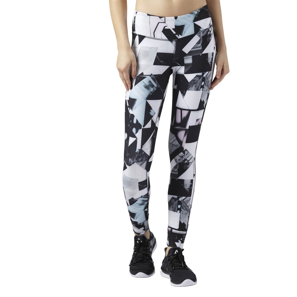 c58f99c4e9cfbe Reebok Womens Lux Bold Tight - Photo Fold in Chalk   Excell Sports UK