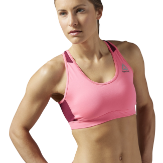 Womens Workout Ready Stacked Logo Medium Support Bra
