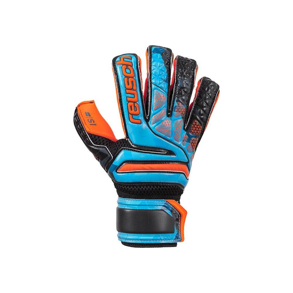 Reusch Soccer Reusch Prisma SG Finger Support LTD Goalkeeper Glove Blue//Black