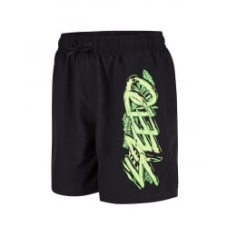 "Boys Jungle Camo Graphic Leisure 15"" Watershort"