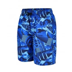 "Boys Tropical Montage Printed Leisure 17"" Watershort"