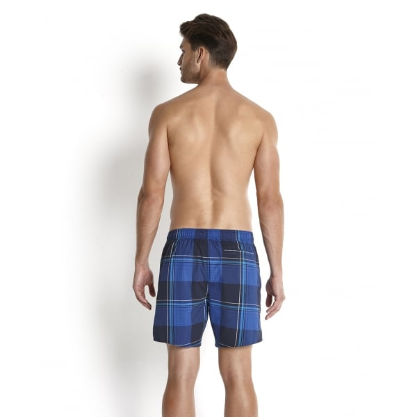 "Speedo Mens Yarn Dyed Check Leisure 16"" Watershort"