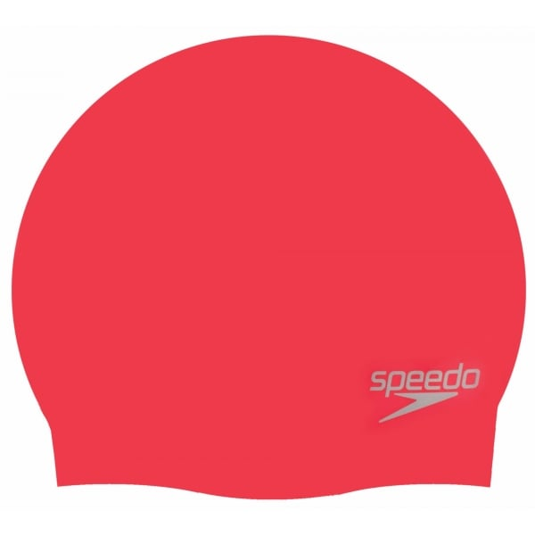 Speedo Plain Moulded Silicone Cap Adults