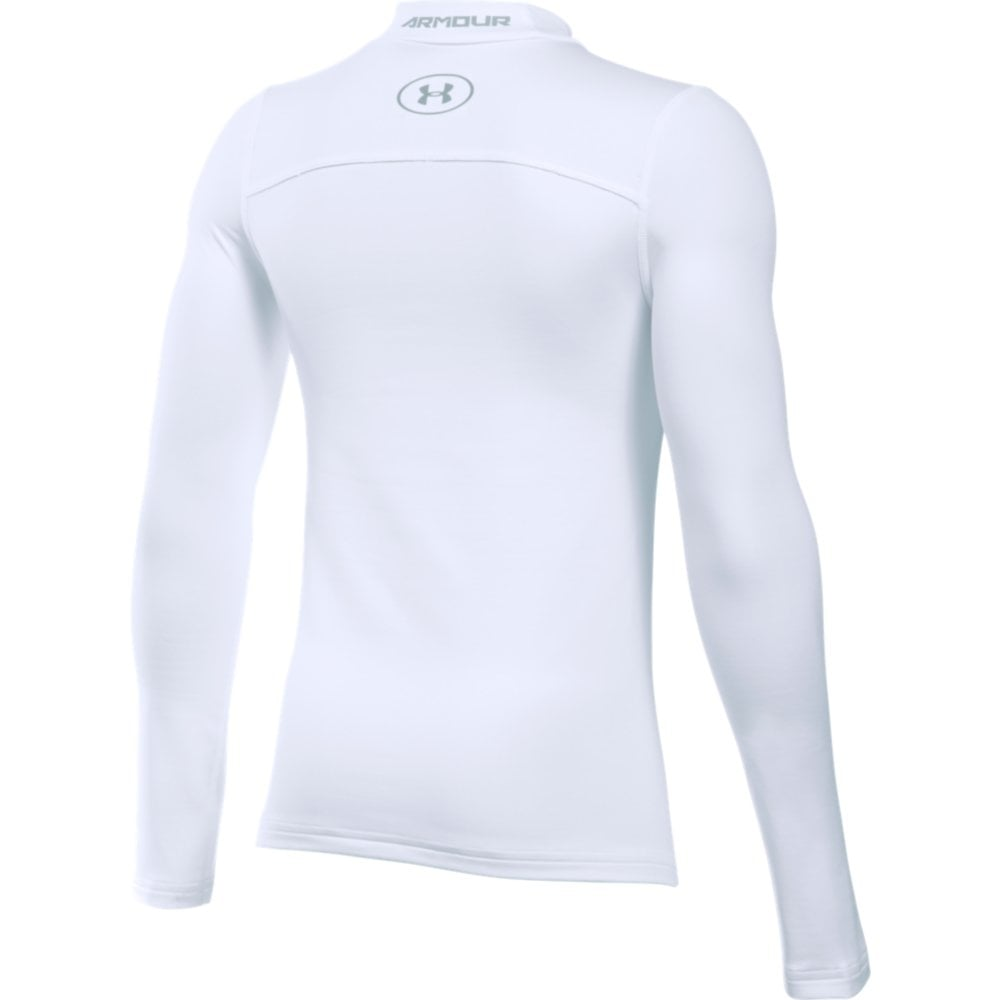 fa01edc9 Under Armour Boys ColdGear Armour Fitted Mock in White | Excell ...