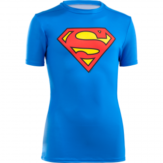 Boy's HeatGear Armour Superman Shortsleeve Fitted Tee