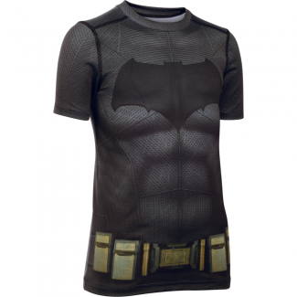 Boys HeatGear Batman Suit Shortsleeve Fitted Tee