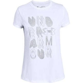 Girls Linear Wordmark Short Sleeve T-Shirt