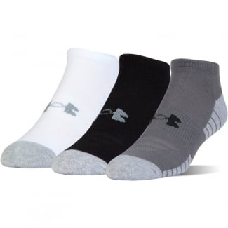 Junior 3-Pack HeatGear No Show Socks