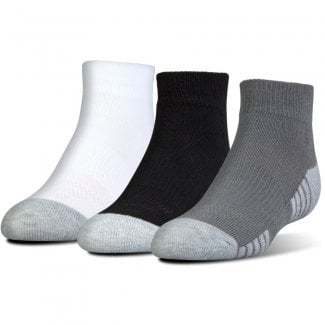 Junior HeatGear Tech Lo Cut Socks 3-Pack