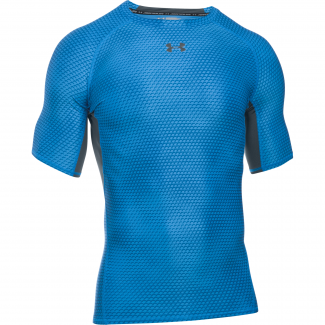 Mens HeatGear Armour Compression Printed Shortsleeve Tee