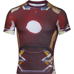 Mens HeatGear Iron Man Compression Shirt