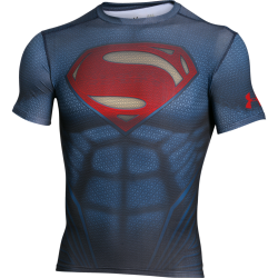 Mens HeatGear Superman Compression Shirt