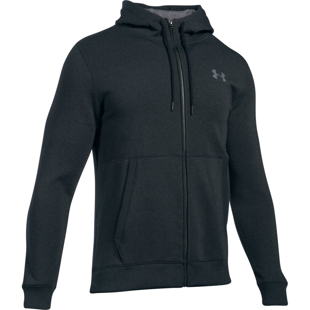 375acea70a4 Under Armour Mens Anthracite Threadborne Fleece Full Zip Hoodie in Grey |  Excell Sports UK