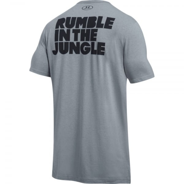 Under Armour Muhammad Ali Mens Rumble In The Jungle Slogan Tee