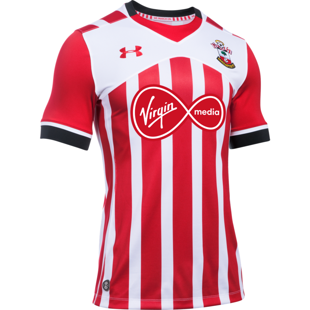 Under armour southampton home junior short sleeve jersey for Under armor football shirts