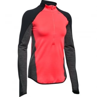 Womens ColdGear Reactor 1/2 Zip Fitted Long Sleeve
