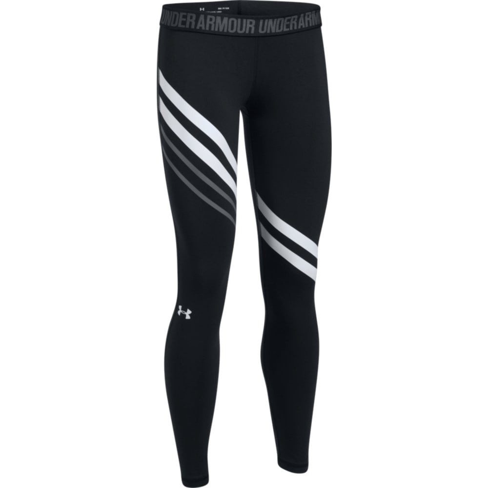 af22c0c8d07c2a Under Armour Womens Favourite Engineered Leggings in Black/White | Excell  Sports UK