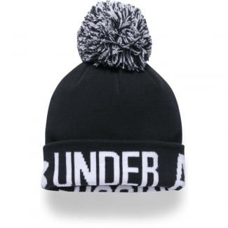 Womens Graphic Pom Beanie