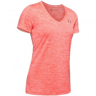 Womens Tech Twist V-Neck Short Sleeve T-Shirt